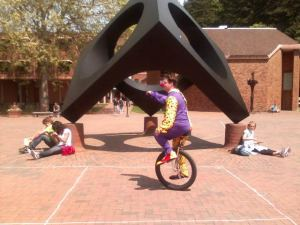 unicycle-clown