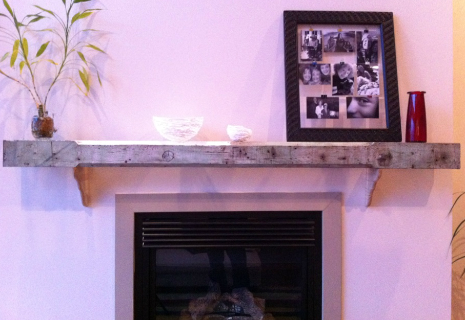 Upcycling: Baluster Fireplace Mantel – Fish & Bicycles