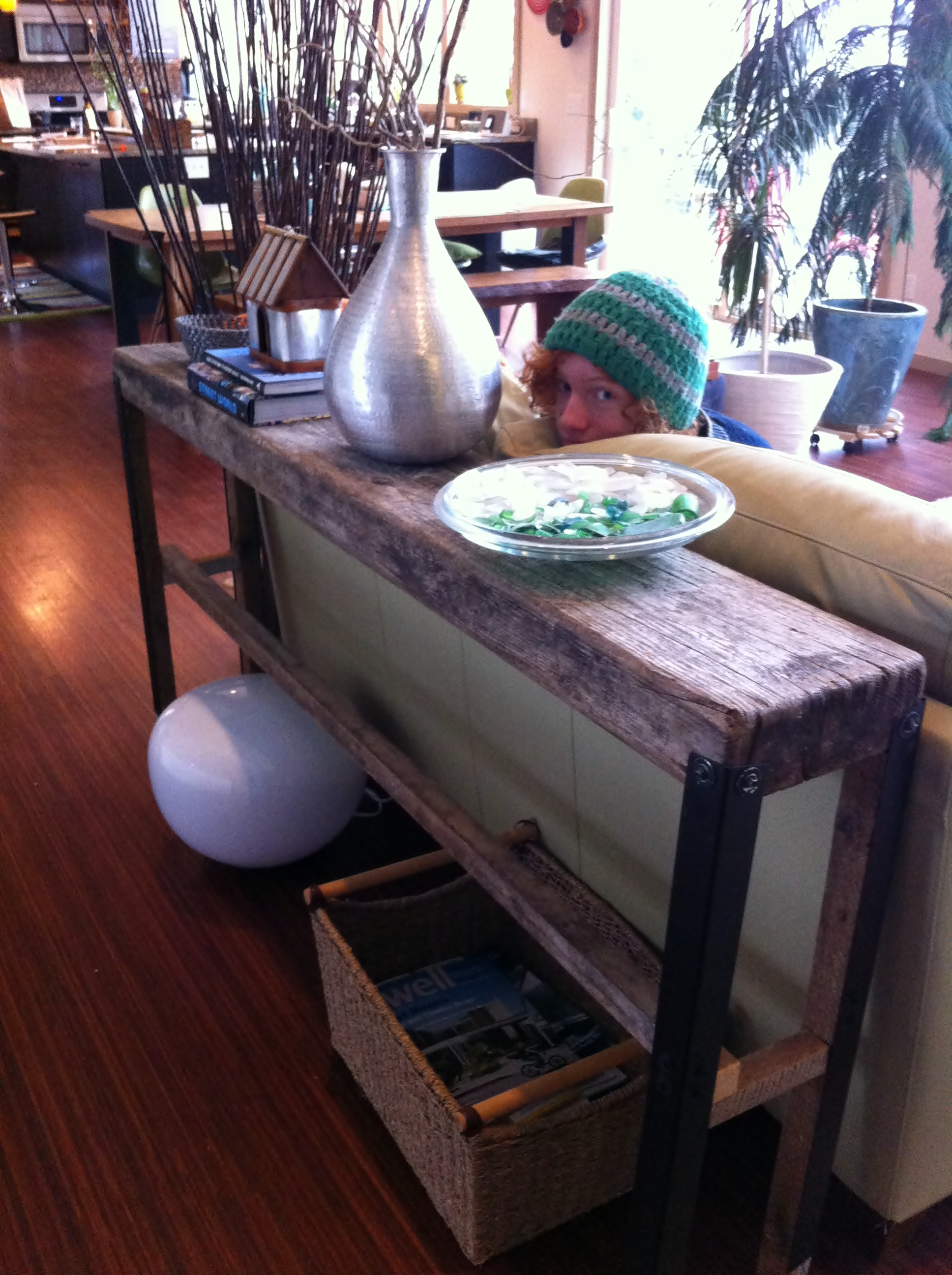 Upcycling Plank Sofa Table – Fish & Bicycles