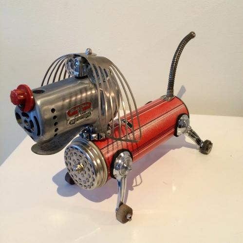 Graham Shodda: vintage thermos, jigsaw, window winders, spatulas, gas can spout, etc.